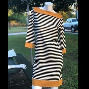 Isaac Mizrahi Dresses - Isaac mizrahi striped boatneck dress Sz m